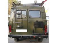 Задний силовой бампер OJ 03.108.02 на УАЗ-452