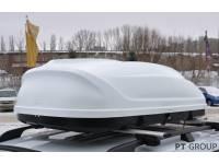 Бокс-багажник на крышу Аэродинамический Белый Turino 1