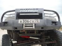 Кит-набор для самостоятельной сварки и окраски бампер Т-34-4 передний усиленный без кенгурина на УАЗ Патриот, сталь 3, 4, 6 мм